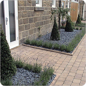 Stylish Front Garden Design Pool-